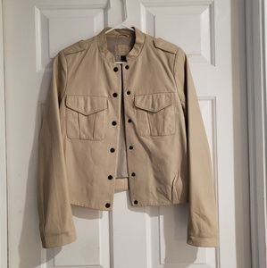 Women's GAP Edition Light Tan Leather Jacket
